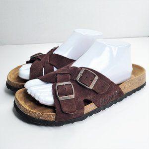 Betula By Birkenstock Brown Suede Sandals